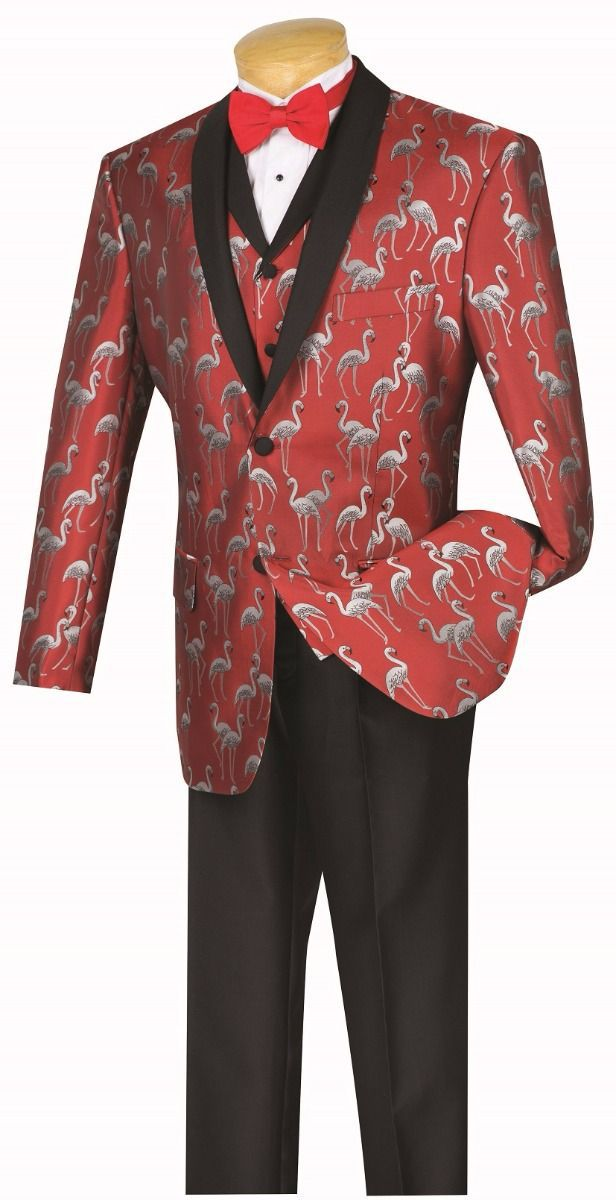 Vinci Men Suit 23FM-1-Red - Church Suits For Less