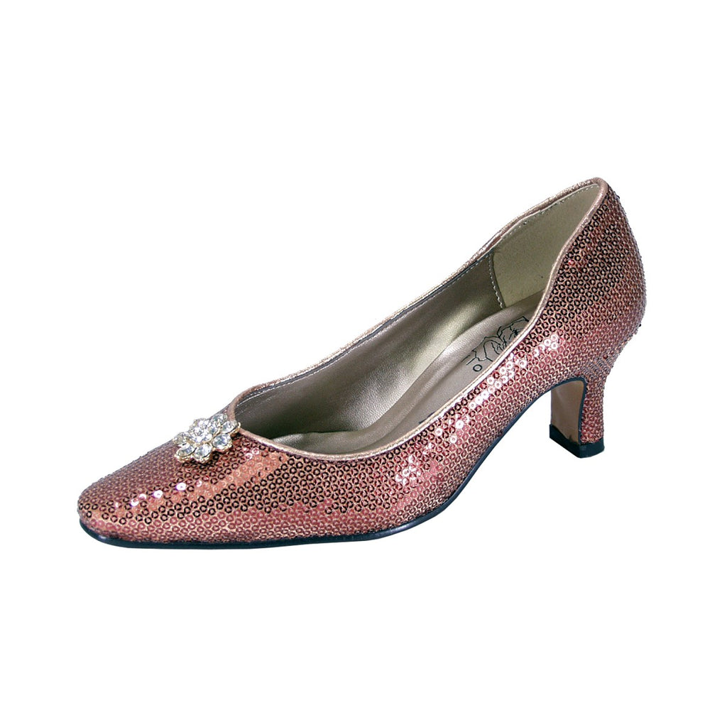 Women Church Shoes DP726 Bronze - Church Suits For Less