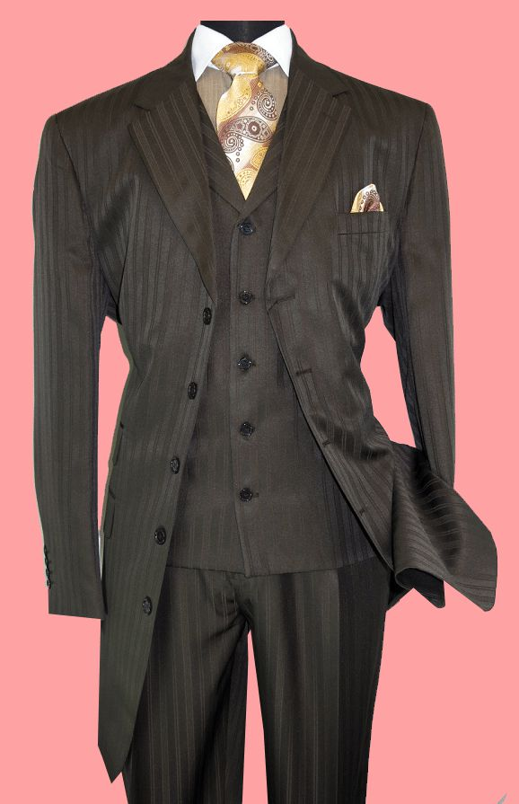 Fortino Landi Men Suit 29198-Brown - Church Suits For Less