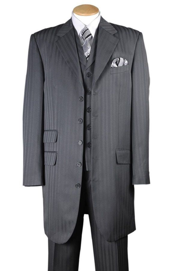 Fortino Landi Men Suit 29198-Grey - Church Suits For Less