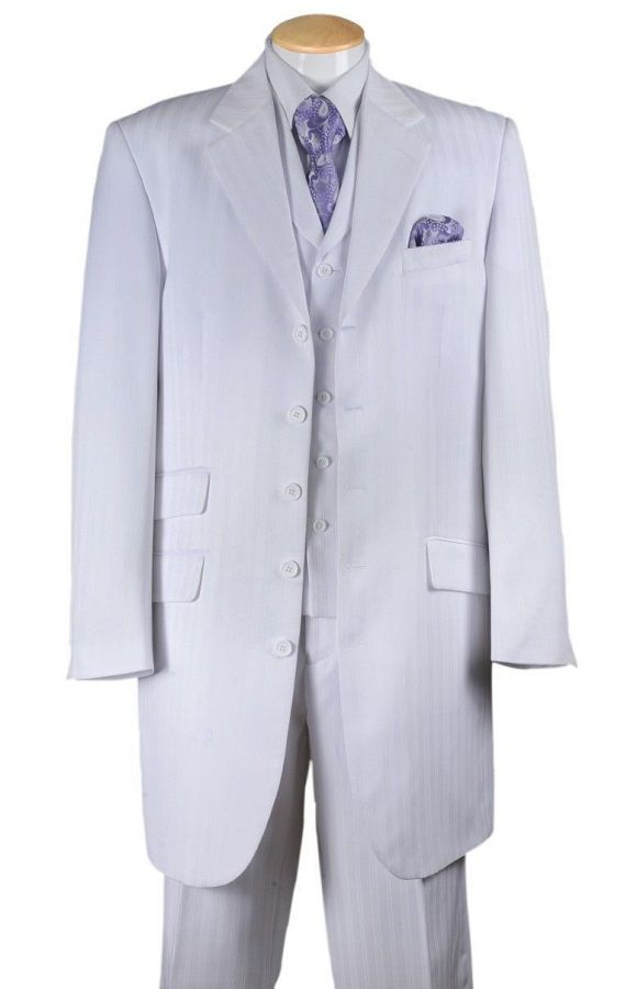 Fortino Landi Men Suit 29198-White - Church Suits For Less