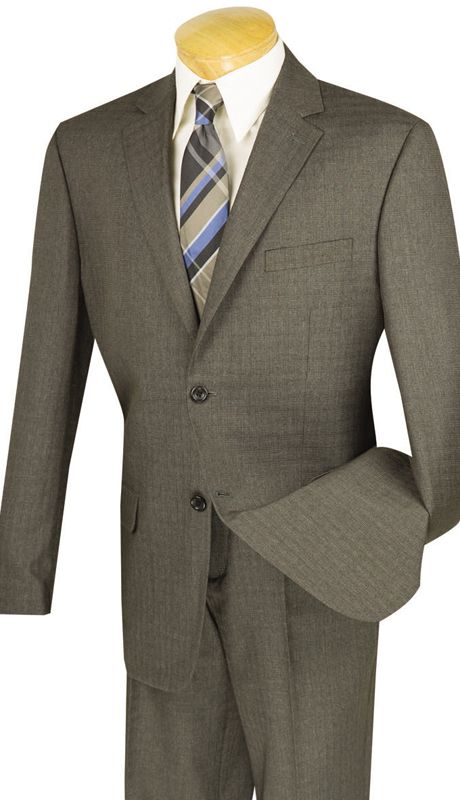 Vinci Men Suit 2WK-1-Brown - Church Suits For Less
