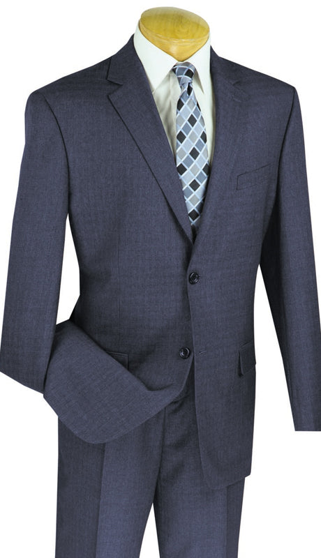 Vinci Men Suit 2WK-1- Blue - Church Suits For Less