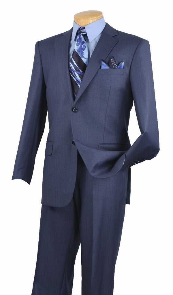 Vinci Men Suit 2LK-1-Blue - Church Suits For Less