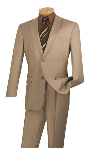 Vinci Men Suit 2LK-1-Beige - Church Suits For Less