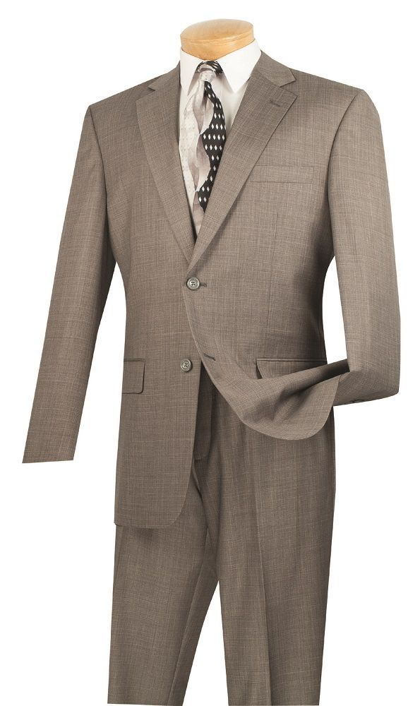 Vinci Men Suit 2LK-1-Gray - Church Suits For Less