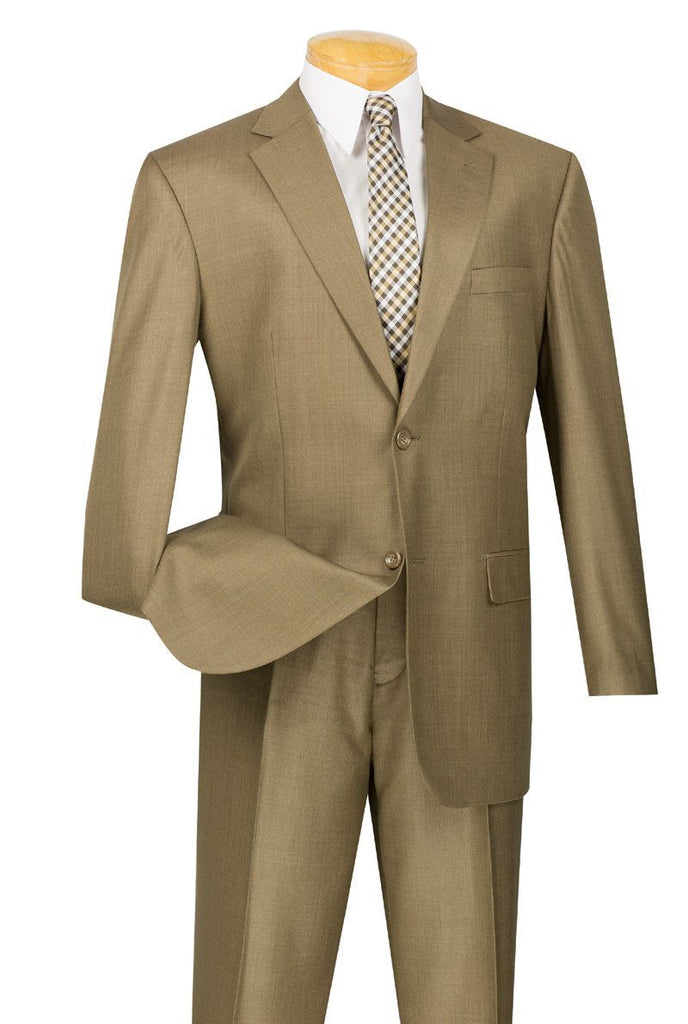Vinci Men Suit 2LK-1-Taupe - Church Suits For Less