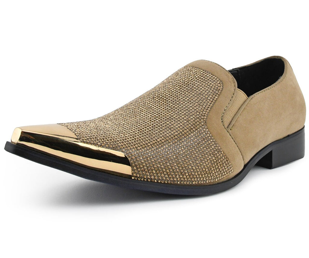Men Dress Shoes-Dezzy-taupe - Church Suits For Less