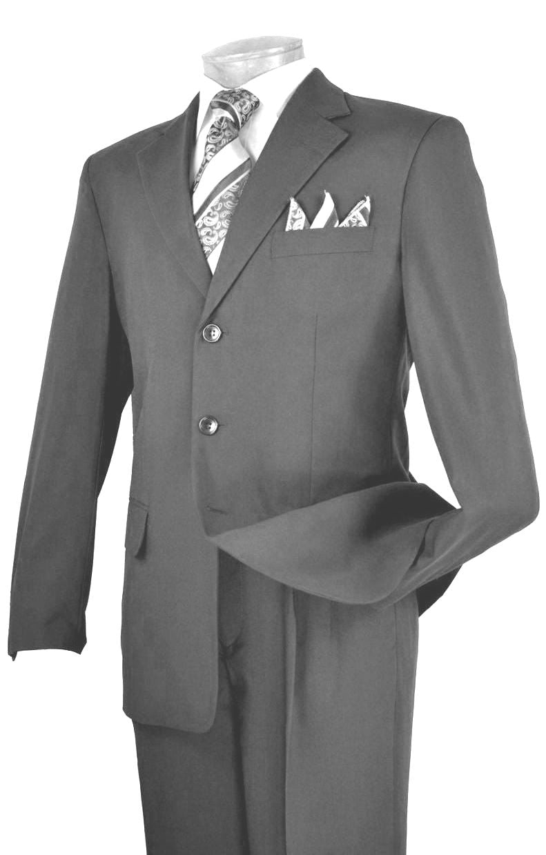 Vinci Men Suit 3PP-Charcoal - Church Suits For Less