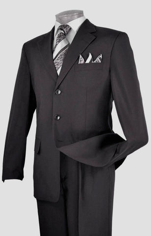 Vinci Men Suit 3PP-Black