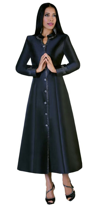 Tally Taylor Church Robe 4445-Black - Church Suits For Less