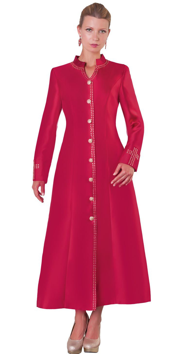 Tally Taylor Robe 4445-Burgundy - Church Suits For Less