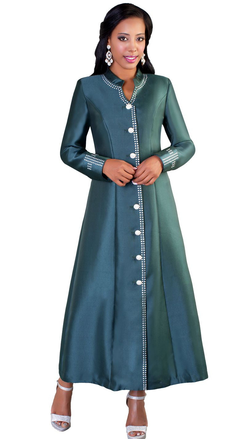 Tally Taylor Robe 4445-Hunter Green - Church Suits For Less
