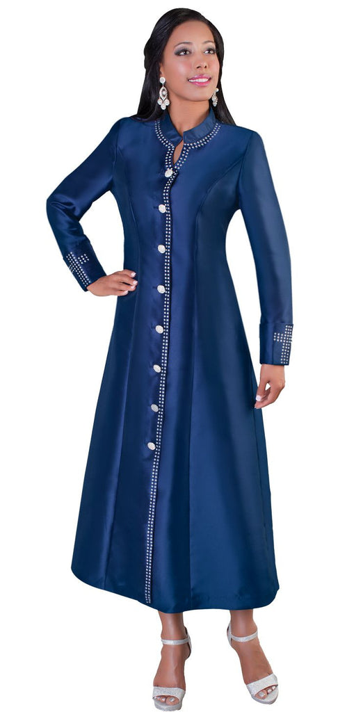 Tally Taylor Robe 4445-Navy Blue - Church Suits For Less