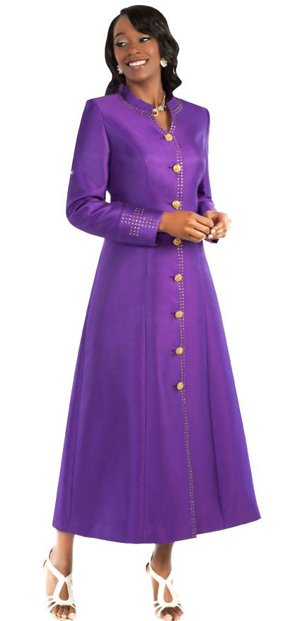 Tally Taylor Robe 4445-Purple/Gold - Church Suits For Less