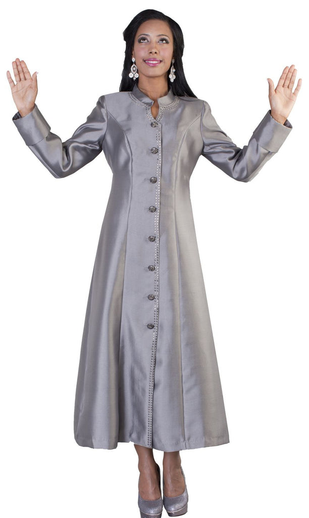 Tally Taylor Robe 4445-Dark Silver - Church Suits For Less