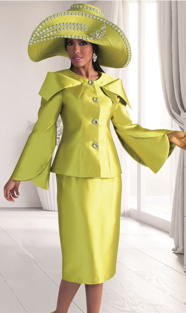 Tally Taylor Suit 4570-Apple Green - Church Suits For Less