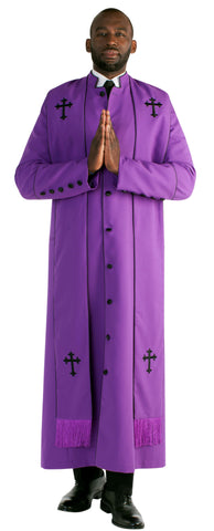 Tally Taylor Men Robe 4591-Purple - Church Suits For Less