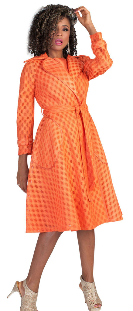Tally Taylor Dress 4638-Burnt Orange - Church Suits For Less