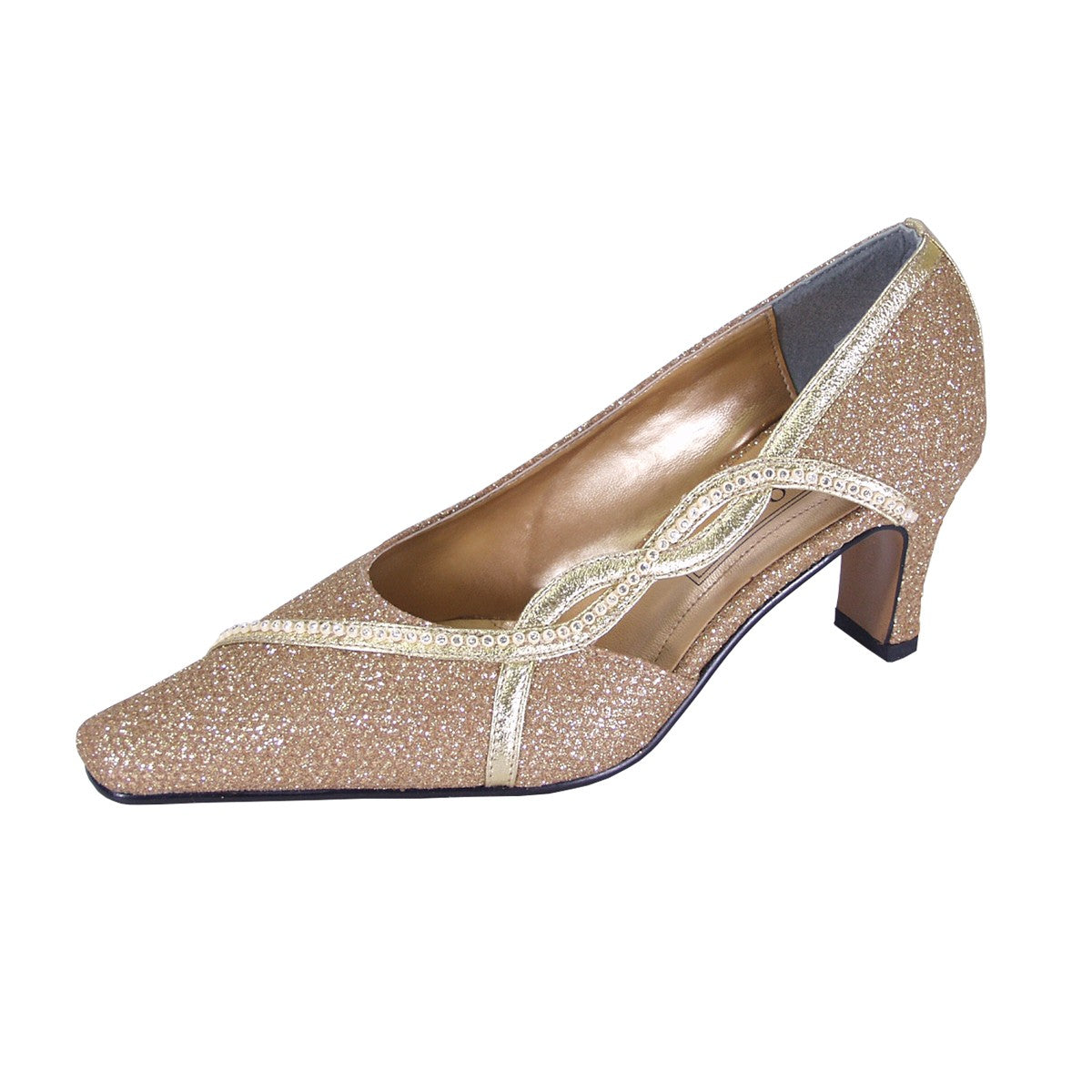 Women Church Shoes DP699-Gold - Church Suits For Less