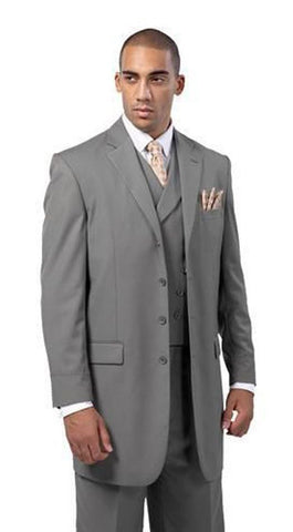 Milano Moda Men Suit 5263-Grey - Church Suits For Less