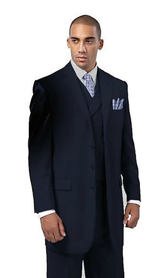 Milano Moda Men Suit 5263-Navy - Church Suits For Less