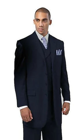 Milano Moda Men Suit 5263-Navy
