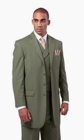 Milano Moda Men Suit 5263-Olive - Church Suits For Less