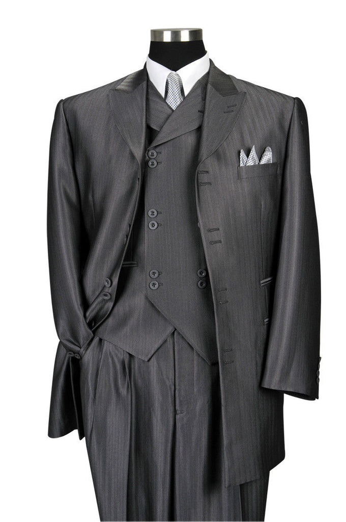 Milano Moda Men Suit 5264V-Grey - Church Suits For Less