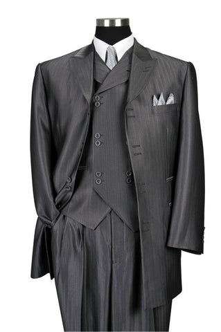 Milano Moda Men Suit 5264V-Grey