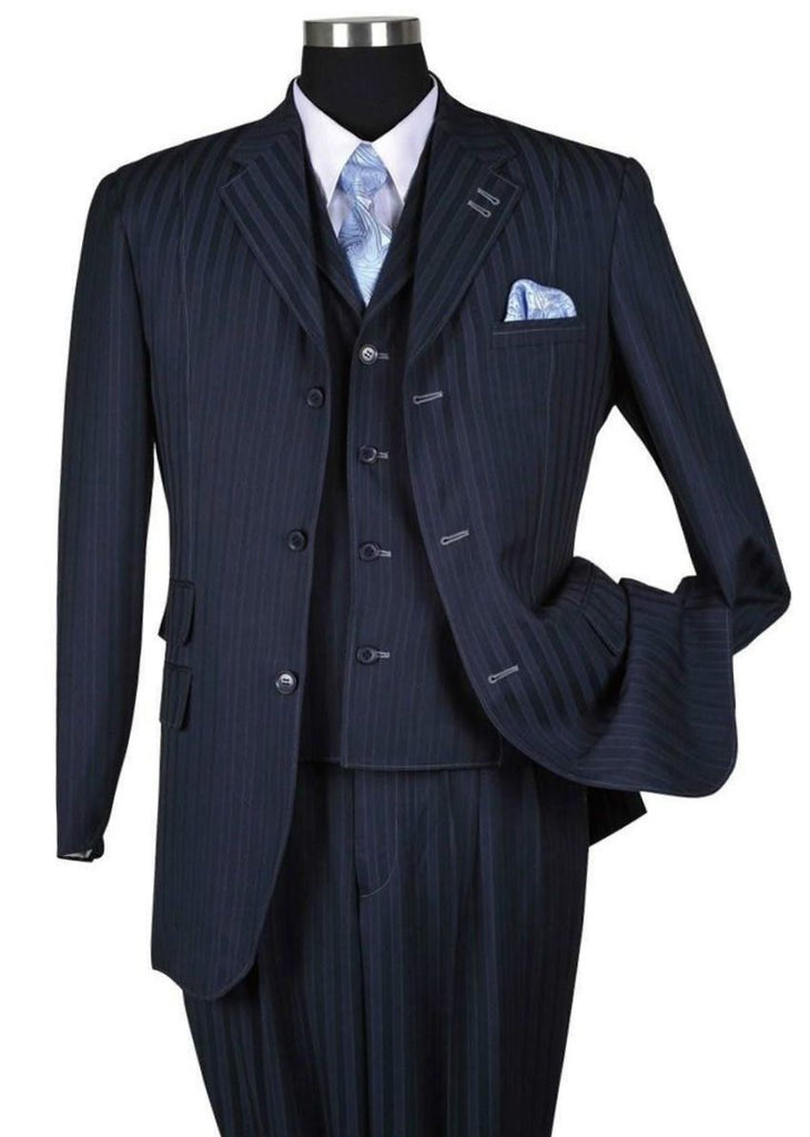 Milano Moda Men Suit 5267V-Navy - Church Suits For Less