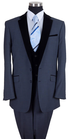 Milano Moda Men Suit 57024-Navy