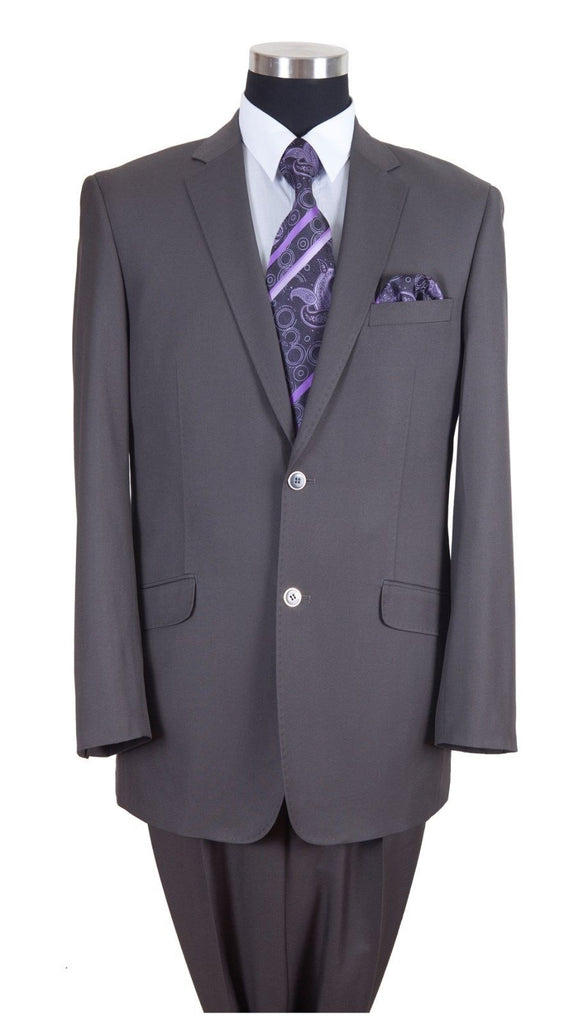 Milano Moda Men Suit 57026-Grey - Church Suits For Less
