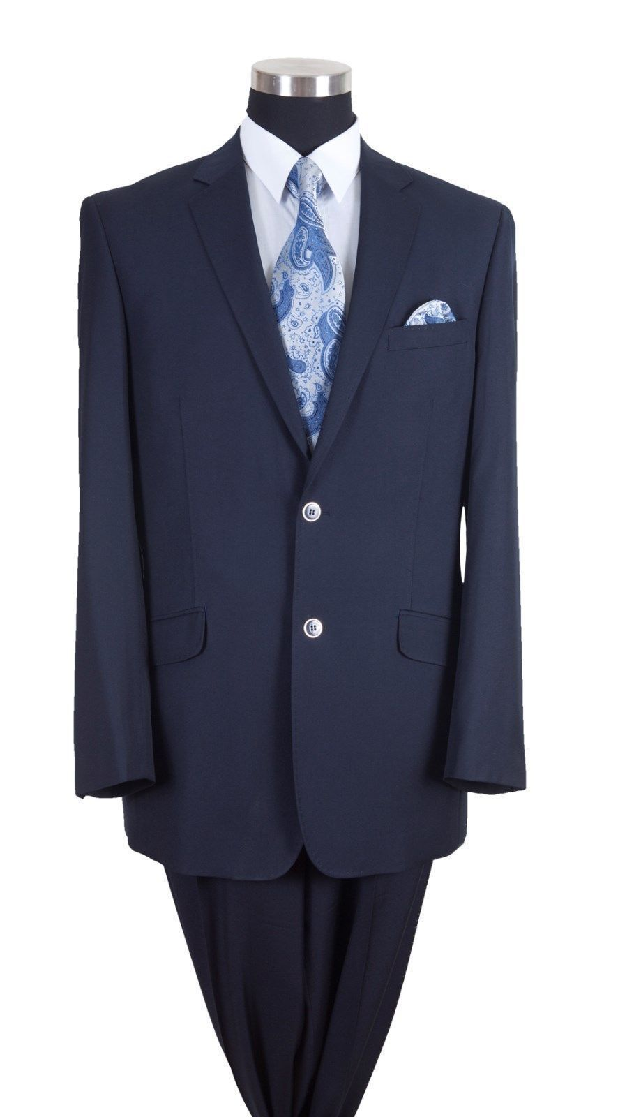 Milano Moda Men Suit 57026-Navy - Church Suits For Less
