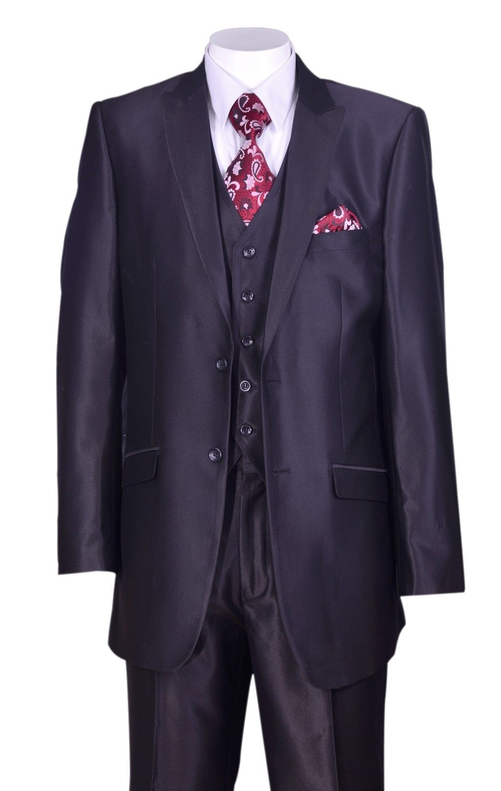 Fortino Landi Men Suit 5702V2-Black - Church Suits For Less