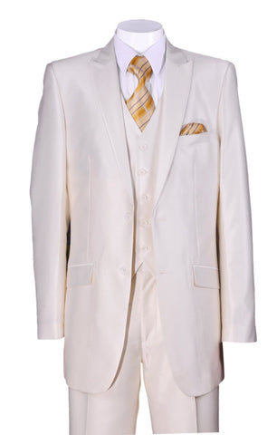 Fortino Landi Men Suit 5702V2-Cream - Church Suits For Less