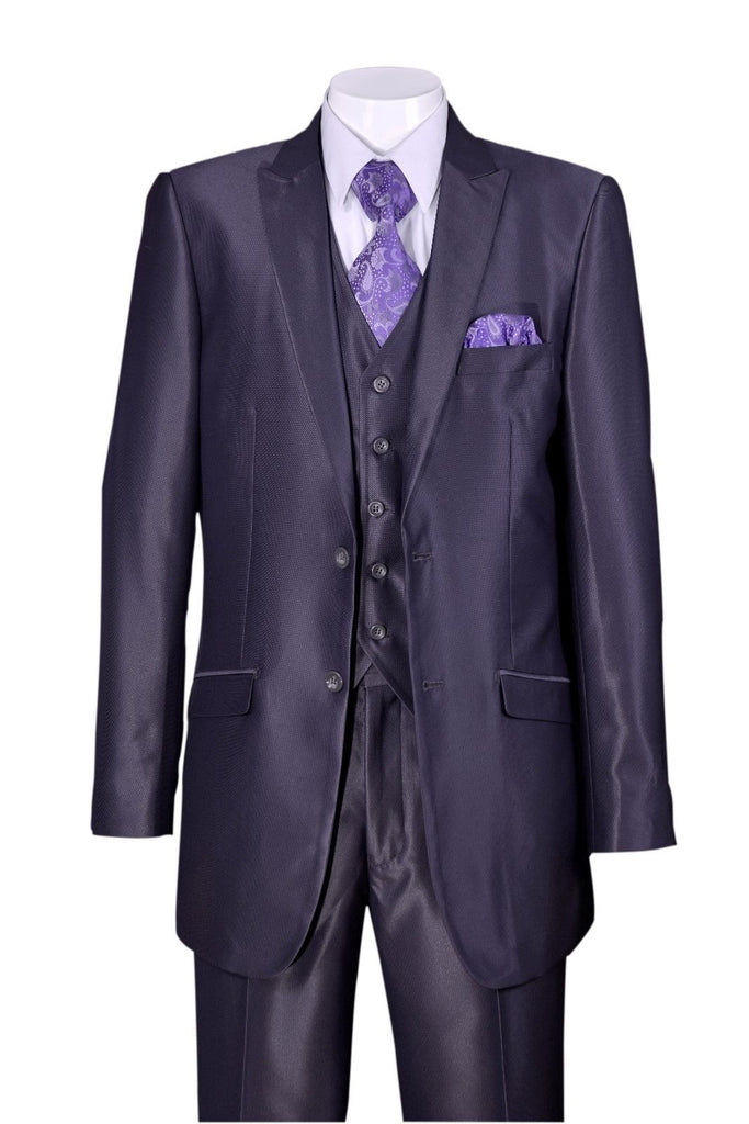 Fortino Landi Men Suit 5702V2-Grey - Church Suits For Less