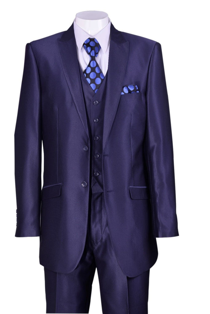Fortino Landi  Men Suit 5702V2-Navy - Church Suits For Less