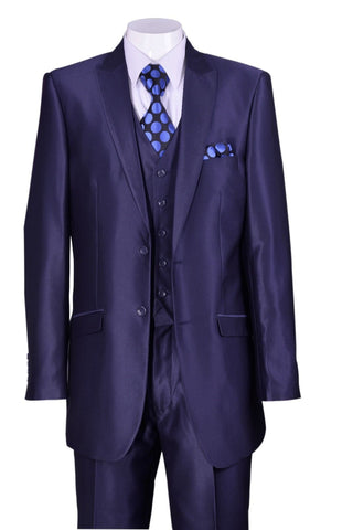 Fortino Landi  Men Suit 5702V2-Navy