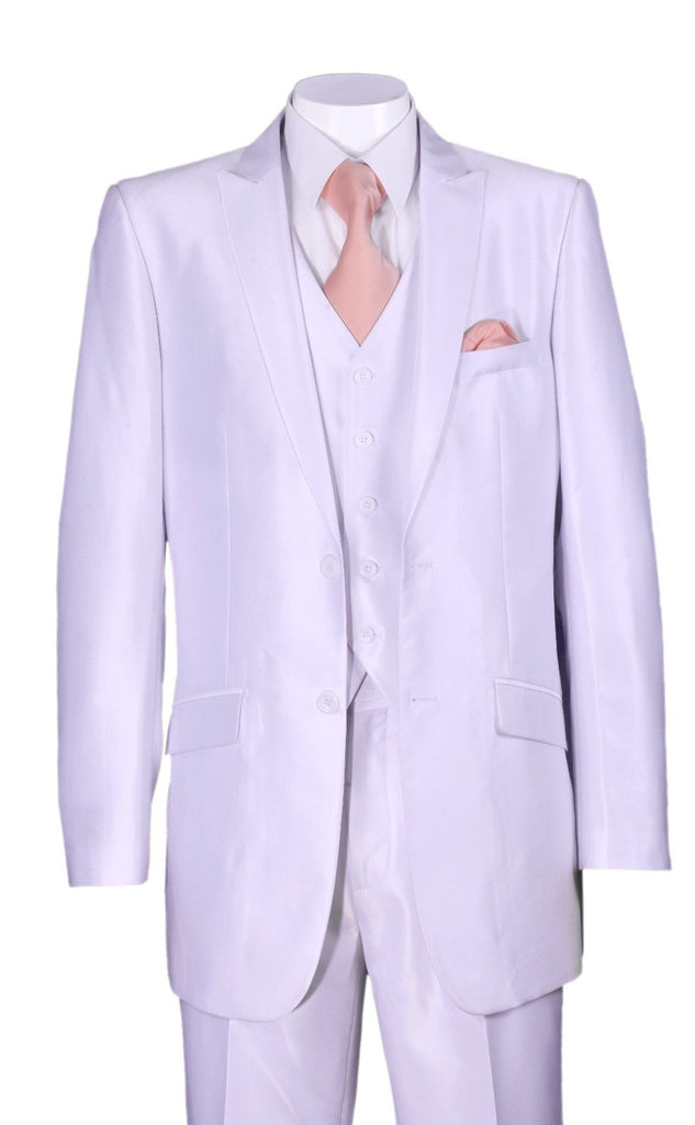 Fortino Landi Men Suit 5702V2-White - Church Suits For Less