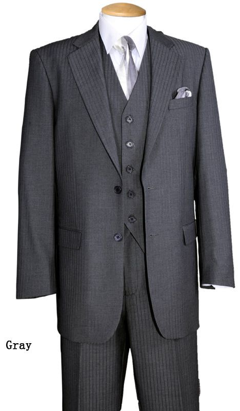 Fortino Landi Men Suit 5702V3-Grey - Church Suits For Less