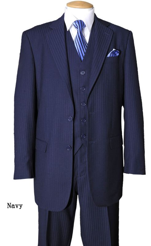 Fortino Landi Men Suit 5702V3-Navy - Church Suits For Less