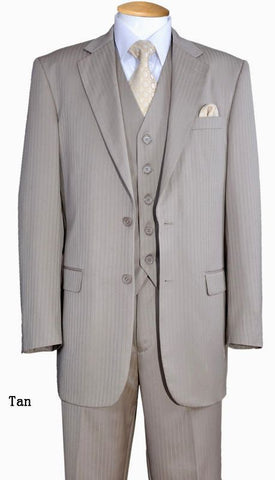Fortino Landi Men Suit 5702V3-Tan