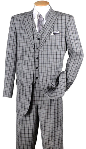 Milano Moda 5802V6-Grey/Black - Church Suits For Less