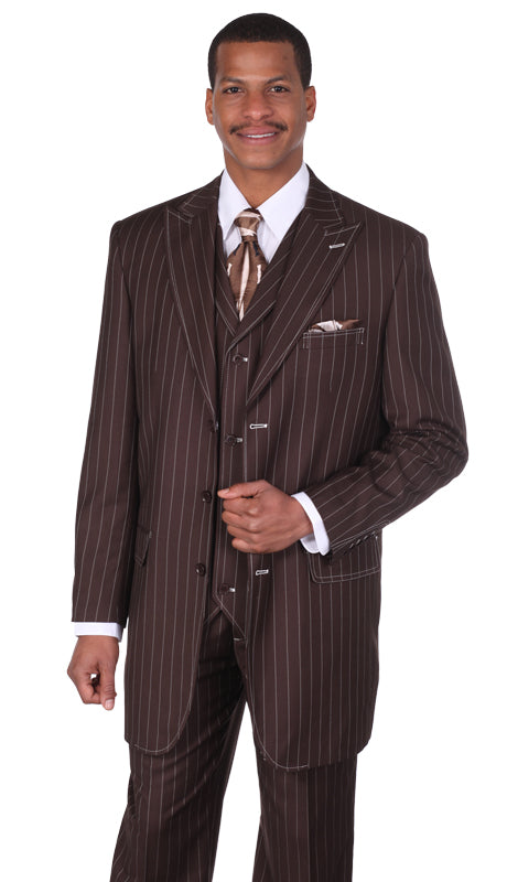 Milano Moda Suit 5903V-Brown - Church Suits For Less