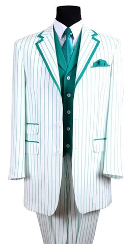Milano Moda Suit 5908V-White/Turquoise - Church Suits For Less