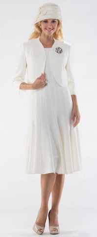 Moshita Dress 6406C-White - Church Suits For Less