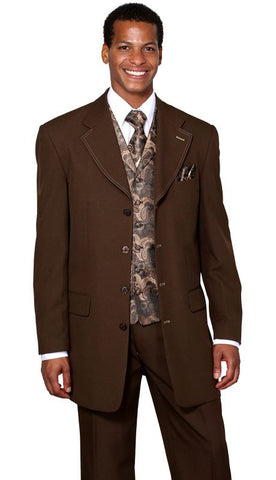 Milano Moda Suit 6903VC-Brown