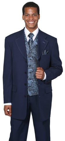 Milano Moda Suit 6903V-Navy - Church Suits For Less