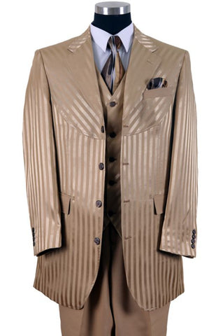 Milano Moda Men Suit 2915V-Tan - Church Suits For Less